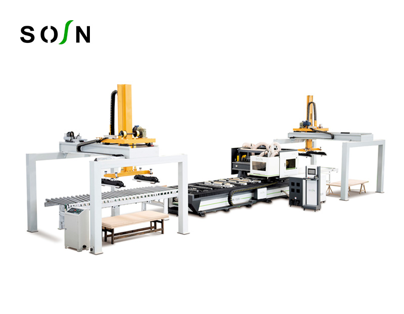 1328-A CNC 4 Sides door cutting machine